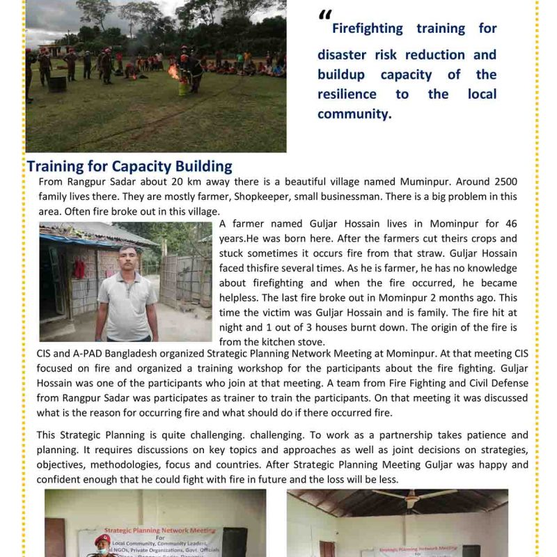 Training for Capacity Building